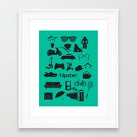 hipster Framed Art Prints featuring hipster by tycejones