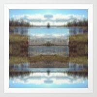 q_lake Art Print