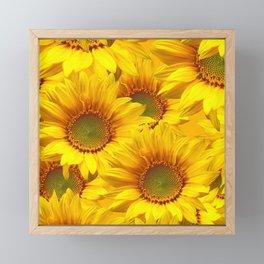 Yellow Mellow Sunflower Bouquet #decor #society6 #buyart Framed Mini Art Print
