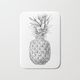 Pineapple, tropical fruit illustration Bath Mat
