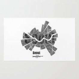 Seoul Map Rug