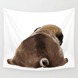 Pug Butt Wall Tapestry