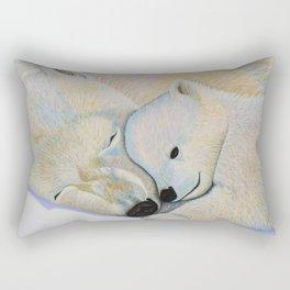 Polar Bear Love #2 Rectangular Pillow