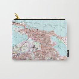 Vintage Map of San Juan Puerto Rico (1969) Carry-All Pouch