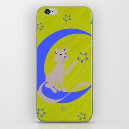 Silhouette Against the Moon iPhone Skin