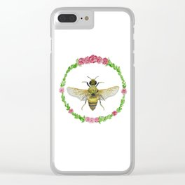 Sweet Honey Bee Clear iPhone Case
