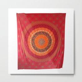 Indian mandala Hippie Tapestry Metal Print