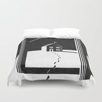 kafka Duvet Covers featuring Walking Home/Deposit NY by N / A