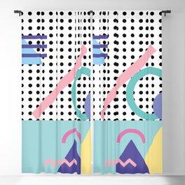 Memphis Pattern 5 - 80s - 90s - Retro Blackout Curtain