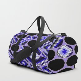 DECORATIVE  PURPLE & BLACK ABSTRACT ART Duffle Bag