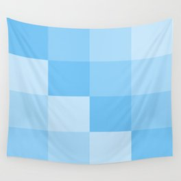 Four Shades of Turquoise Square Wall Tapestry