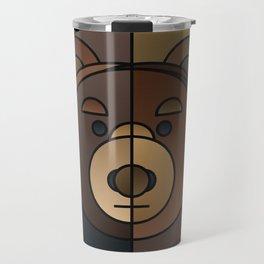 ANIminiMAL - Animal Minimal Bear Art Print Travel Mug