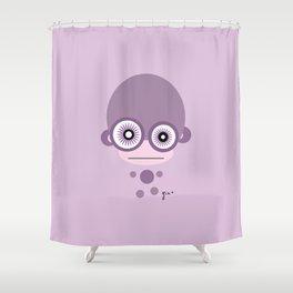 Amazed Jiggin Monkey Shower Curtain