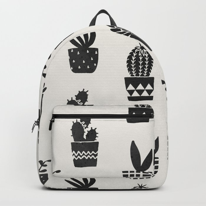 Desert Potted Cactus + Succulents Backpack
