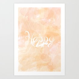 Watercolor Happy Art Print