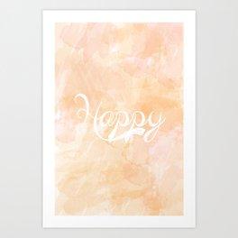 Watercolor Happy Art Print