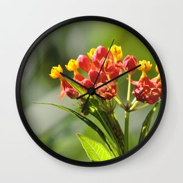 Little Spring Blooms Wall Clock
