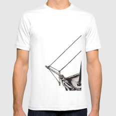 Gently Guided Ship White SMALL Mens Fitted Tee