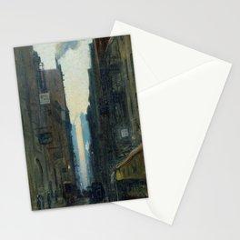 New York Street Scene - Ernest Lawson Stationery Cards
