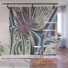 Cosmic Orchid - Fractal Art Wall Mural