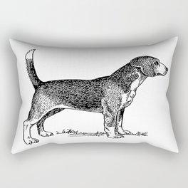 Curious Beagle Dog Rectangular Pillow