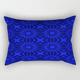 Blue Pinwheel Flowers Floral Pattern Rectangular Pillow