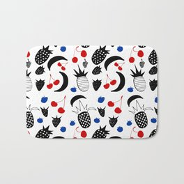 Fruit Salad white Bath Mat