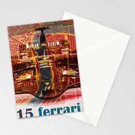 Formula 1 race car 2015 on old vintage new orleans city map Stationery Cards