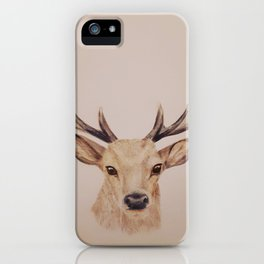 Stag colour drawing iPhone Case