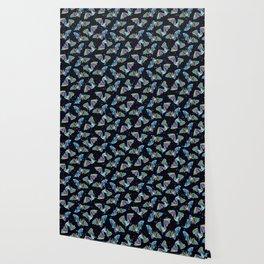 Pastel Party Bat Pattern Wallpaper