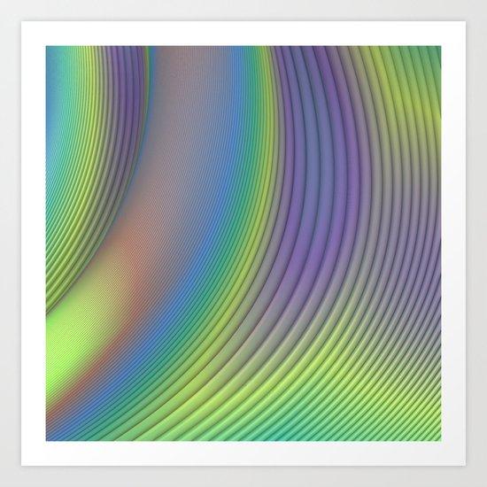 Curves Art Print