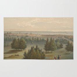 Vintage Pictorial View of Toronto Canada (1851) Rug