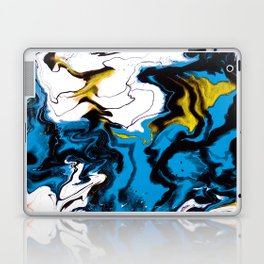 Dreamscape 01 in Blue, White & Gold Laptop & iPad Skin