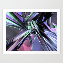 Abstract Metallic Reflections Art Print