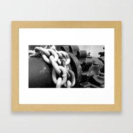 Dam Gear Chains Framed Art Print