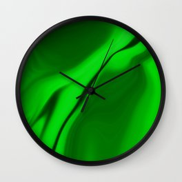 Smooth Green Design Wall Clock