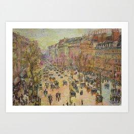 Paris, Boulevard Montmartre, a copy Art Print