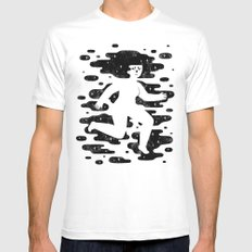 Escape to Another Dimension White X-LARGE Mens Fitted Tee