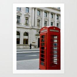 Telephone Booth Art Print