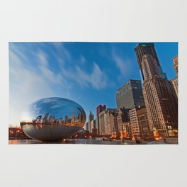 Chicago's Bean at Sunrise Rug