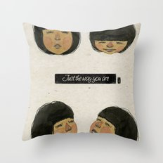 I love just the way you are. Throw Pillow