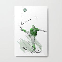 Soccer Player 3 Metal Print
