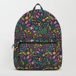 Graphic Floral Backpack