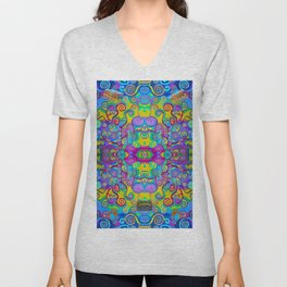 Klimt Tree of Life Mandala Unisex V-Neck