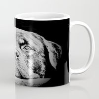 rottweiler Mugs featuring Rottweiler Drawing By Annie Zeno by Annie Zeno