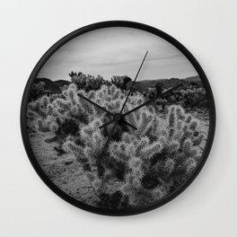 Cholla Cactus Garden IX Wall Clock