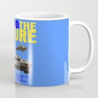 back to the future Mugs featuring Back To The Future by FunnyFaceArt