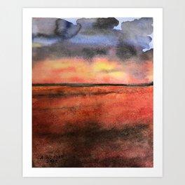 Orange at the Beach Art Print