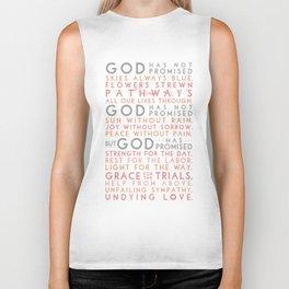 God has promised Biker Tank