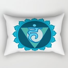 Vushuddha Throat Blue Chakra Rectangular Pillow